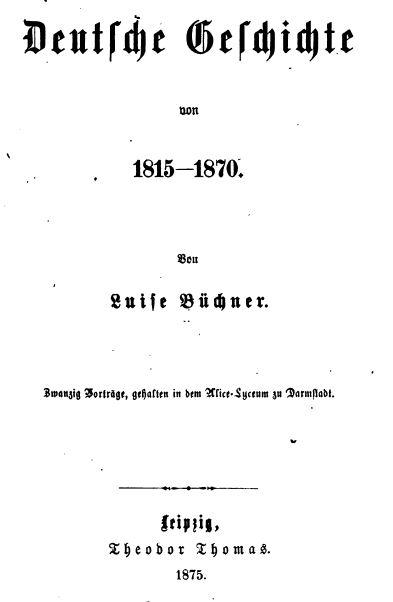 LuiseBuechner-DeutscheGeschichte_Titel
