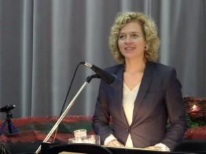 Lisa Ortgies bei ihrer Dankesrede