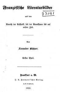 Alexander_Franzoesische_Literaturbilder_Titel
