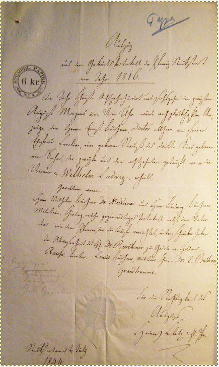 Wilhelm_Geburtsurkunde_1816_1844
